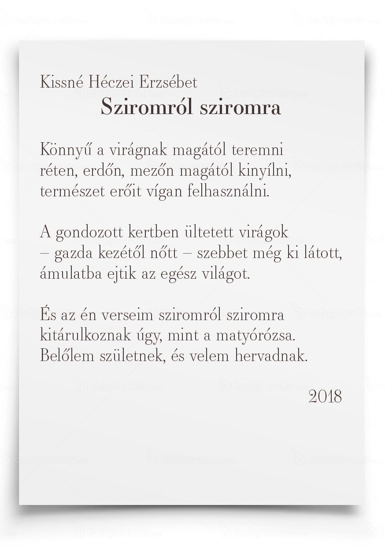 c2d9315ac6 A magyar kultúra napjához kapcsolódva a mezőkövesdi kötődésű Kissné Héczei  Erzsébet verseskötetét mutatják be holnap a Városi Könyvtárban.